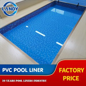 Landy Waterproof PVC Outdoor Swimming Pool Liner with Custom Pattern